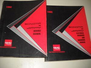 1993 gmc jimmy sonoma truck service shop repair manual set w rh ebay com 1994 GMC Jimmy Interior 1992 GMC Jimmy