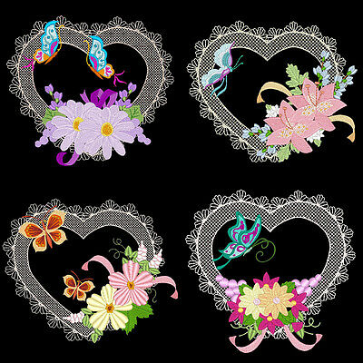 HEARTS A FLUTTER - 36  MACHINE EMBROIDERY DESIGNS (AZEB)