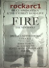 Bruce SPRINGSTEEN Fire 1987 UK Press ADVERT 10x7""