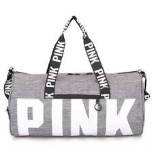 1388be0635 item 4 Victoria s Secret PINK Grey Canvas Duffle Bag Yoga Holiday Gym  Travel Weekend -Victoria s Secret PINK Grey Canvas Duffle Bag Yoga Holiday  Gym Travel ...