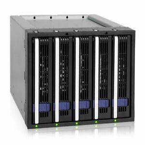 Icy-Dock-MB155SP-B-Ez-tray-5-X-3-5-034-Sata-Hdd-Cage-mb155spb