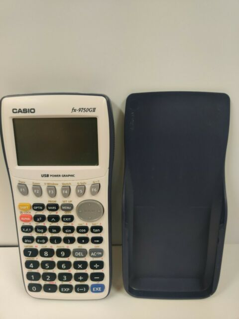 Casio fx-9750GIII Graphing Calculator Python Blue White with Cover Free Shipping