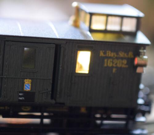 Trix H0// Trix Express LED Innenbeleuchtung für bayrischen Packwaggon flackerfrei