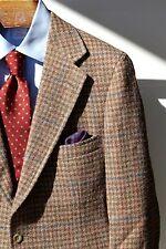 Polo University / Bullock's 38S Tan & Blue Windowpane Check Wool Tweed Jacket