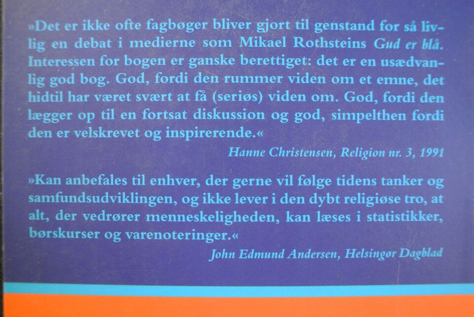 gud er blå - de nye religiøse bevægelser, mikael rothstein,