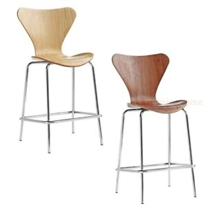 Arne-Jacobsen-Series-7-Style-Counter-Stool-Molded-Plywood-Walnut-Natural-Finish