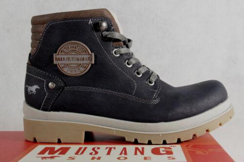 Mustang Stiefel Stiefeletten Schnürstiefel Boots blau 5037  NEU!