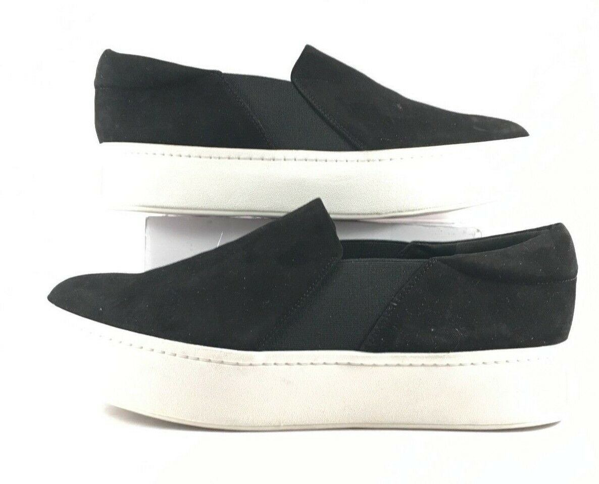 Vince Black Suede Suede Suede Warren Slip On Fashion Sneakers Womens Size US 9.5M 02033b