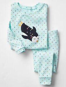 Baby & Toddler Clothing Considerate Gap Baby Girls Size 6-12 Months Aqua Turquoise Penguin Polka Dot Pajama Pj Set