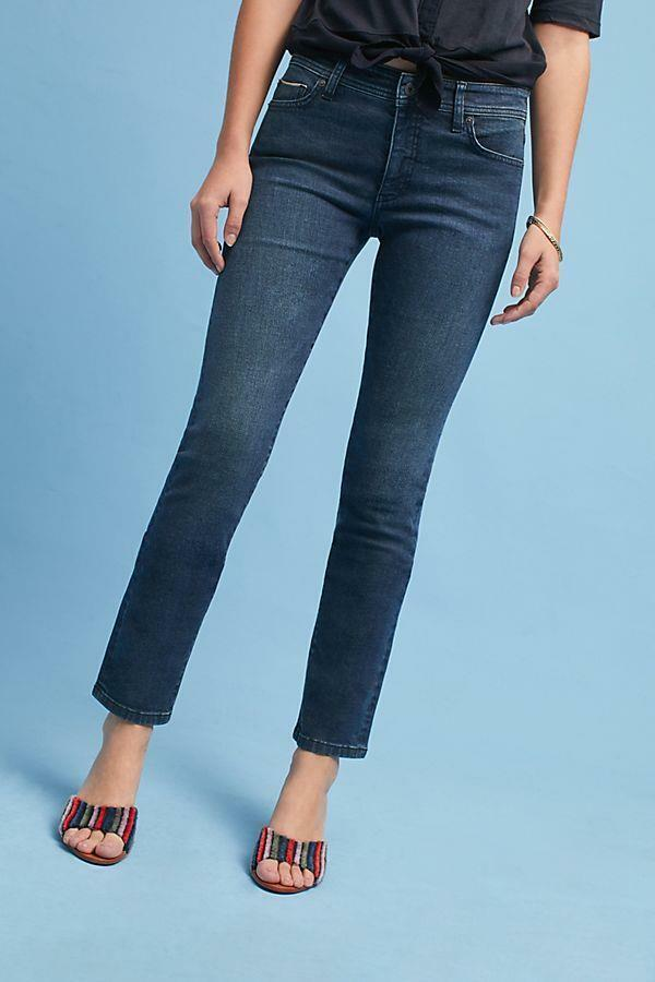 NWOT ANTHROPOLOGIE PILCRO HIGH-RISE SLIM STRAIGHT JEANS sz 31 AS IS