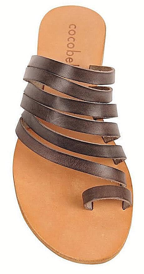 Cocobelle donna`s Sandals Palermo Sandal Italian Leather Smoke Tone Straps Straps Straps NWT ca80b1