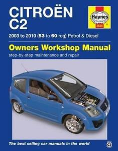 haynes citroen c2 03 10 hdi vtr owners service repair workshop rh ebay co uk citroen c2 vtr workshop manual citroen c2 vtr workshop manual