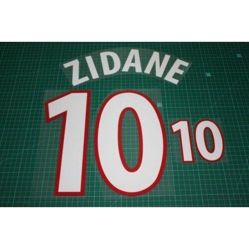 Flocage ZIDANE pour maillot équipe de France 2000 patch shirt