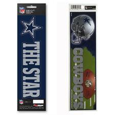 """4/"""" NFL Dallas Cowboys FOOTBALL /& HELMET Souvenir Scrapbook Bumper Stickers nw"""