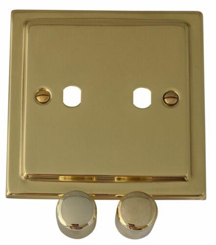 G/&h TB12-PK Trimline Laiton Poli 2 Gang gradateur plaque seulement Inc variateur Boutons
