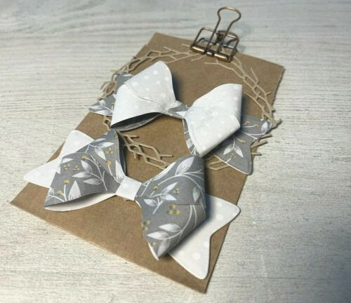 Stanzschablone//cutting esto 3d doble bucle bucle Bow Xmas ca 3x7 cm