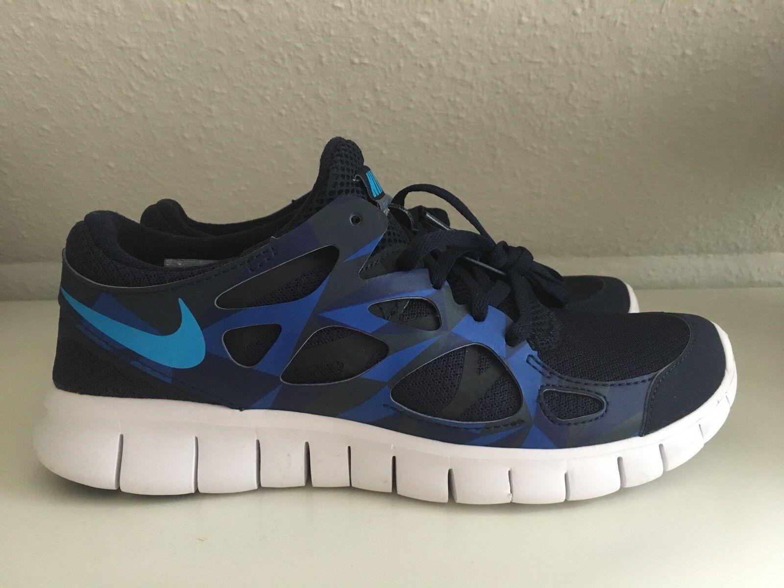 WIE NEU    Nike Free Run 2.0 dunkelblau Gr. 40
