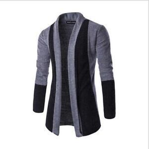 Korean-Fashion-Men-039-s-Slim-Fit-Sweatshirt-Sweater-Coat-Jacket-Outwear