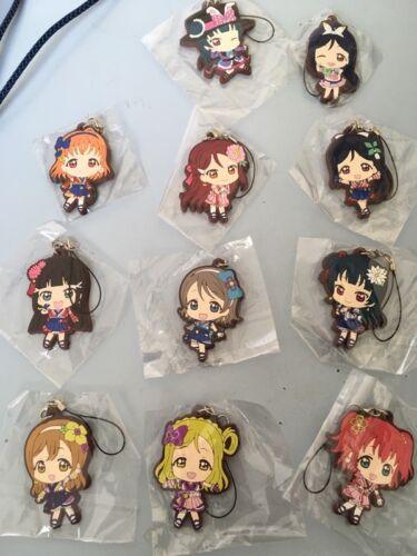 Aqours Keychain Rubber Strap Phone Charm Sunshine! Anime Love Live Lovelive