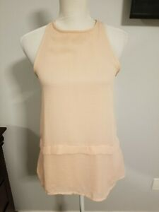 Mango-Suit-Womens-Tank-Top-Powder-Pink-Sz-Small