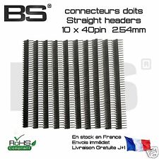 10 Barrettes droites 40P sécable Male straight header 2.54 Arduino FR exp j+0