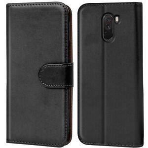 Book-Case-fuer-Xiaomi-Pocophone-F1-Huelle-Tasche-Flip-Cover-Handy-Schutz-Huelle