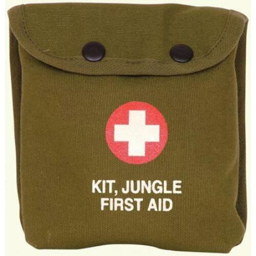 First Aid Pouch Bag Military Style Personal Jungle 1st Kit OD Medic Canvas