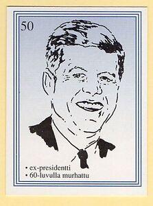 1990s-Finnish-Film-Star-Card-Fame-Alias-50-US-President-John-F-Kennedy