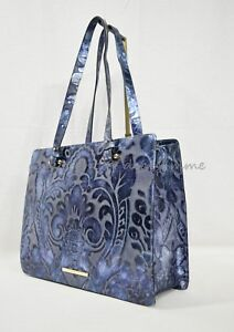 914ebc753 NWT Brahmin Medium Camille Leather Tote/Shoulder Bag in Blue Shergin ...
