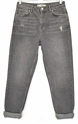 Grey Size W26 Topshop Mom Vintage Tapered L28 Jeans Waisted Petite High 8 XuZiOPkT