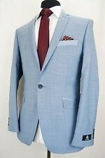 Men's Light Blue Summer Cruise Wedding Slim Fit Suit 42R W36 L31.5 EZ409