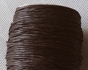10 y Waxed Cotton Cord Necklace 1mm Dark Brown String Bracelet Rope Braided