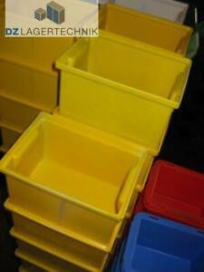 /%/%/% B-WARE /%/%/% Sichtlagerkasten LF 3 verzinkt Lagerfix Kiste Kasten Lagerkiste