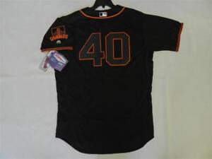 super popular 4fb63 1155c Details about Authentic Madison Bumgarner San Francisco Giants Flex Base  BLACK Jersey 56