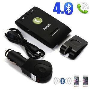 Auto-Kfz-Bluetooth-Freisprecheinrichtung-Freisprechanlage-Verbinden-Multi-Handys
