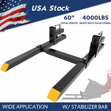 4000lbs 60 Tractor Pallet Forks Clamp On Skid Steer Loader Bucket Quick Attach