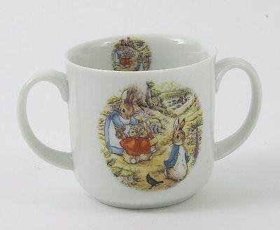 Beatrix Potter Peter Rabbit double handle China Mug   NEW  13143