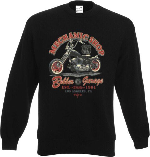Sweatshirt in Schwarz HD BikerChopper V Twin&Oldschoolmotiv Modell Mechanic Shop