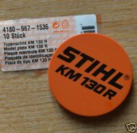Genuine Stihl KM130R Model Plate Name Plate 4180 967 1536 Tracked Post