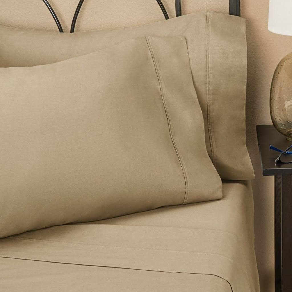 1000TC EGYPTIANCOTTON SOLID BEIGE king Cal Queen twin Flat Sheet,Duvetset,Fitted
