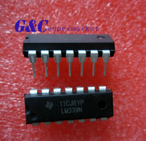 50PCS IC LM339 LM339N DIP LOW POWER Quad Voltage Comparator NEW