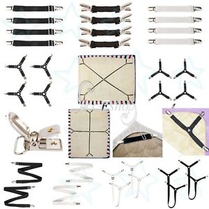4Pcs Various Bed Mattress Sheet Clip Grippers Straps Suspenders Fastener Holder
