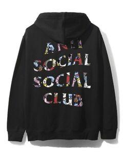 DS Anti Social Social Club ASSC x BT21 Black Logo Peekaboo White Hoodie in hand