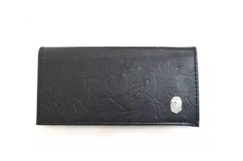 A Bathing Ape Bape Leather Tone CAMO Passport MultiCase Wallet Purse Pouch Bag
