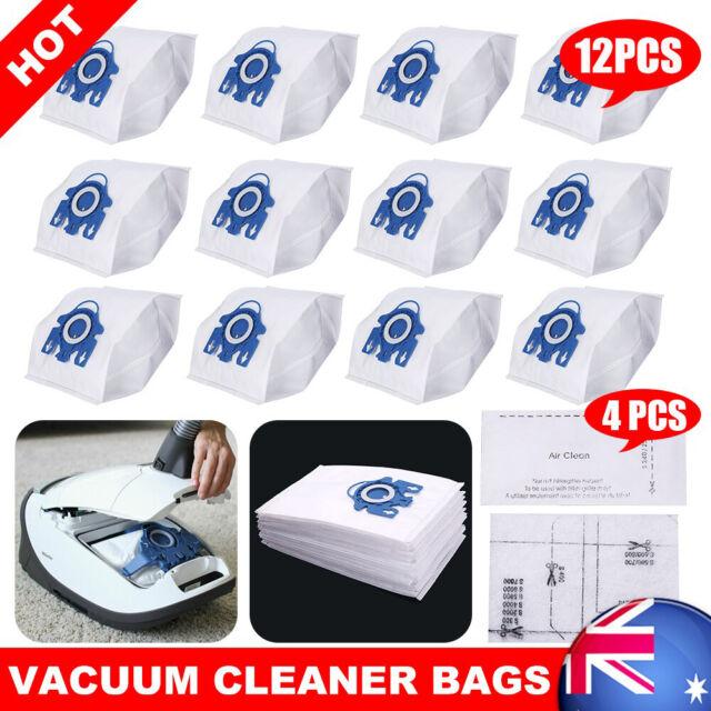 12 Vacuum Cleaner Bags for Miele 3D GN C2 C3 S2 S5 S8 S5211 S5210 S8310 AU STOCK