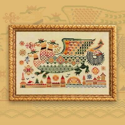 Forest Dragon Cross Stitch Kit /'Waldrache/' Dragon Cross Stitch Set Counted DIY Licensed art by Jojoes Art Fantasy Forest Creature