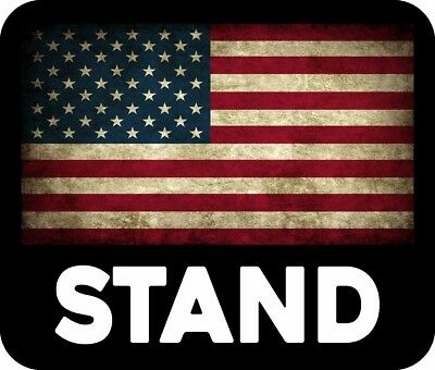 TRUMP AMERICAN FLAG ITS WHAT WE STAND FOR WHITE DECAL BUMPER STICKER POLITICAL