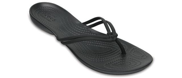 8574bd84158eb1 Women Crocs Isabella Flip Flop Sandal 204004-060 Black Black 100% Original  New