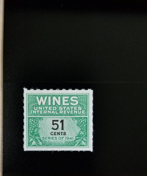 1951-54 51c U.S. Internal Revenue Cordial & Wine, Green