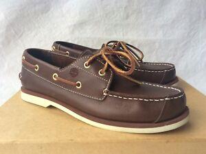Details zu Timberland 2 Eye Boat Shoes Bootsschuhe Boys Herren Gr EU 39 US 6 UK 5,5 Braun